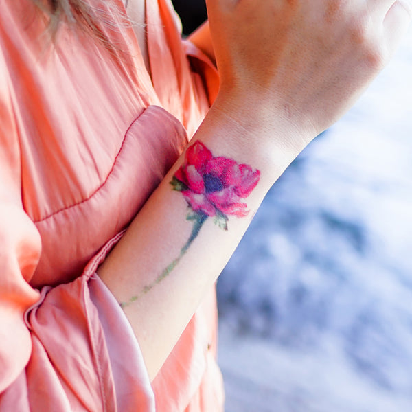 Red Poppies Sun Flower Pine Tree Tattoo Long Lasting Warercolor Temporary Tattoo Flash Flower Tattoo Sticker Hong Kong tattoo Sticker 紋身貼紙 香港紋身 刺青師 自訂客製少量印刷大量批發特快專業優質彩色金屬色廣告宣傳禮品 Gift Promotion Advertising Event