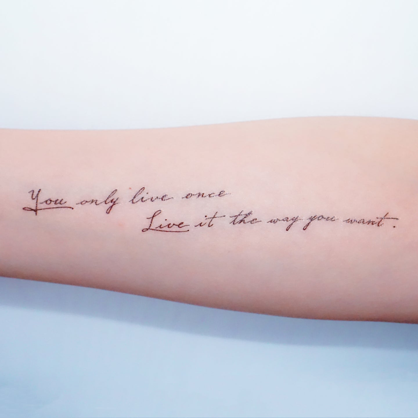 Encourage Quote.Live Your Way Tattoo - LAZY DUO TATTOO