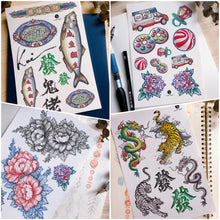 Load image into Gallery viewer, 經典懷舊香港情懷紋身貼紙復古Old Hong Kong Vintage Tattoos LAZY DUO Temporary Tattoo Shop HK Hong Kong Mane.ink 香港刺青紋身貼紙設計印刷訂做客製 stom Temporary Tattoo Event Printing Tattooist artist HK tattoo shop MANE  動物刺青 彩色紋身 香港女紋身師刺青師 認領圖日系小清新韓國刺青