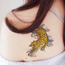 Load image into Gallery viewer, Old Hong Kong Tiger and Dragon Vintage Tattoo 經典復古香港懷舊左青龍右白虎刺青紋身貼紙LAZY DUO Temporary Tattoo Shop HK Hong Kong Mane.ink 香港刺青紋身貼紙設計印刷訂做客製 stom Temporary Tattoo Event Printing Tattooist artist HK tattoo shop MANE 動物刺青 彩色紋身 香港女紋身師刺青師 認領圖日系小清新韓國刺青