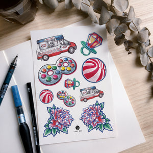 Old Hong Kong Toy & Candy Tattoos - LAZY DUO TATTOO