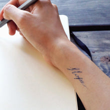 Load image into Gallery viewer, Watercolor Lettering Tattoo・Hope - LAZY DUO TATTOO