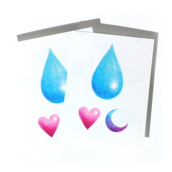 Rain Tattoo Gradient color tattoo Rain Tattoo Water Droplet Tattoo Minimal Tattoo Heart Tattoo Watercolor Tattoo Rainbow TATTOO LAZY DUO Temporary Tattoo HK Hong Kong Tattoo Shop Little Tattoo Small Tattoo Fake Tattoo