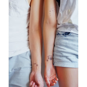 J12・Animal Universe Tattoos Set - LAZY DUO TATTOO