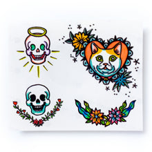 Load image into Gallery viewer, New School Angel & Devil Skull Tattoo Set - LAZY DUO TATTOO