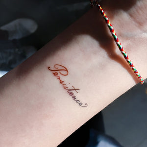 Watercolor Lettering Tattoo・Persistence (Small) - LAZY DUO TATTOO