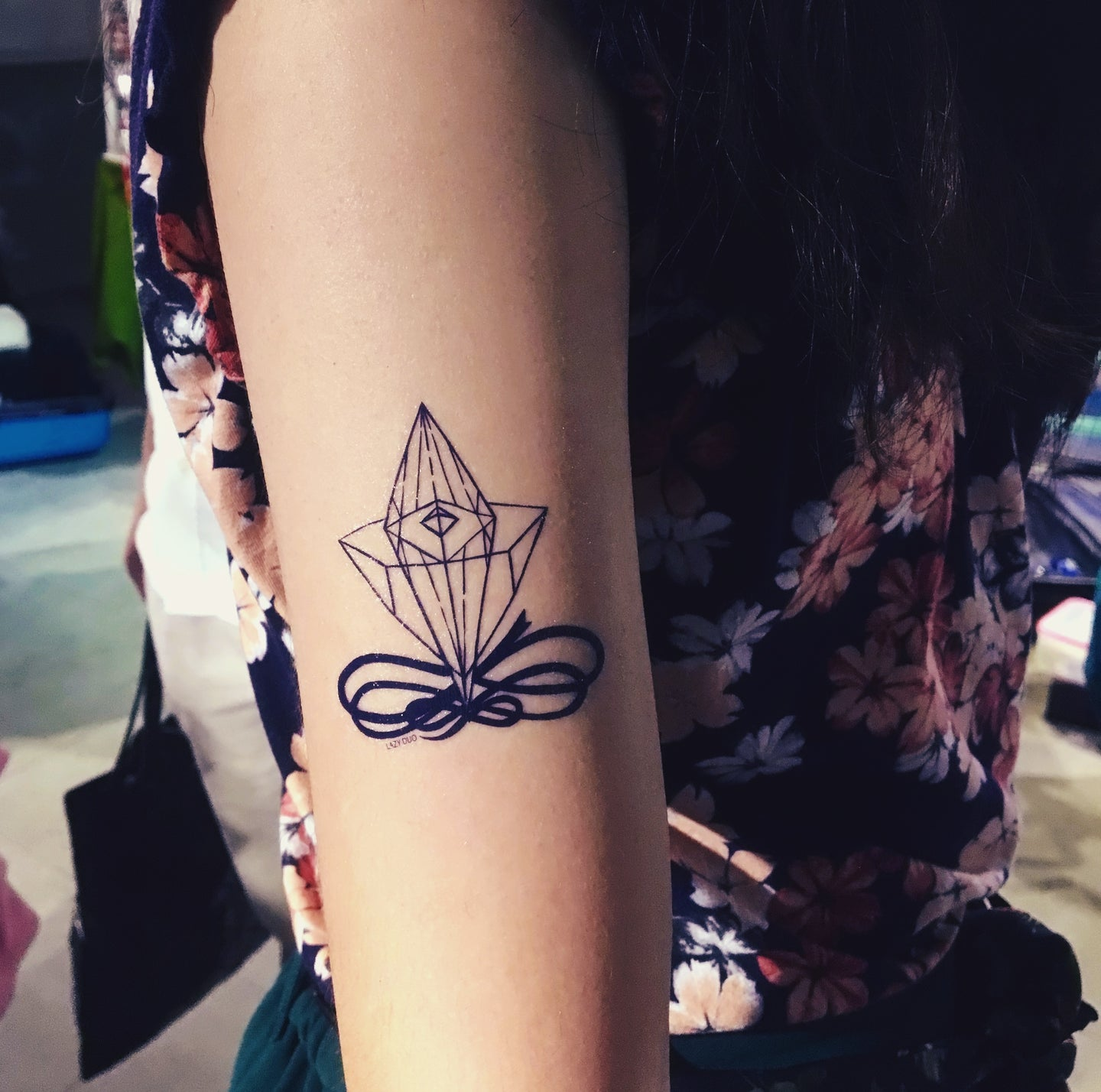 Minimal Diamond Tattoo - LAZY DUO TATTOO