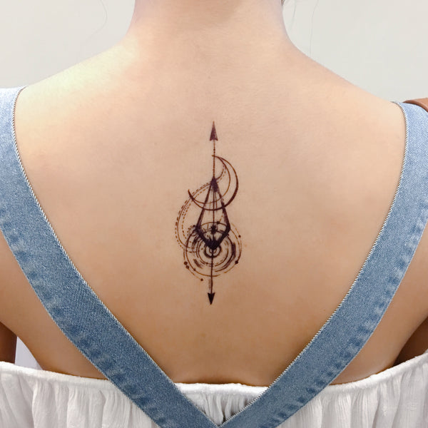 1df302b65 Star tattoo Artistic Tattoo Moon Tattoo Arrow LAZY DUO Tattoo Sticker  香港紋身貼紙刺青圖案