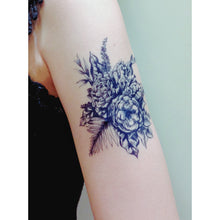 Load image into Gallery viewer, Blue Flower Bouquet Tattoo - LAZY DUO TATTOO