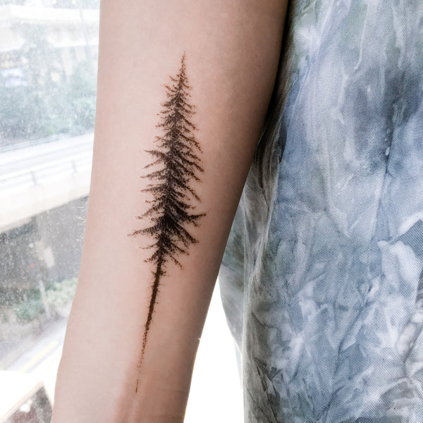 Tree Tattoo Watercolor Tattoo LAZY DUO Tattoo Sticker 香港紋身貼紙 刺青圖案 紋身師 印刷訂做客製 Custom Temporary Tattoo artist HK tattoo shop Hong Kong 迷你刺青 韓式刺青紋身 small tattoo design Minimal Tattoo little tattoo idea sketchy tattoo floral tattoo ankle wrist tattoo back tattoo Taiwan