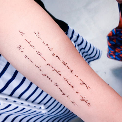 Life Lesson Quote.Trust Yourself Tattoo - LAZY DUO TATTOO