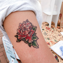 Load image into Gallery viewer, Old Hong Kong Vintage Peony Flower Tattoos - LAZY DUO TATTOO