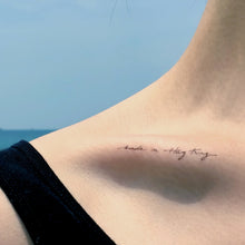 Load image into Gallery viewer, Watercolor Lettering Tattoo・Made in Hong Kong - LAZY DUO TATTOO