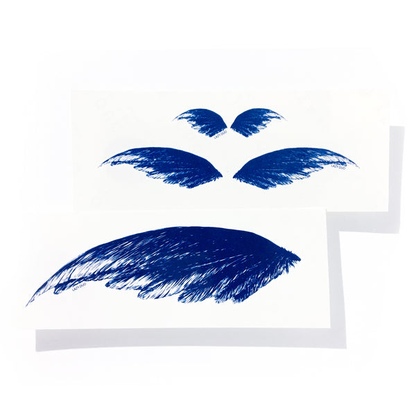 feather wing tattoo sticker blue boho tattoo Delicate tattoo Classic Tattoo Flash Pair tattoo Bohemian Arrow Moon Tattoo Sticker Deer Tattoo Deep Blue Tattoo Sexy LAZY DUO Temporary Tattoo 香港紋身貼紙 刺青圖案 紋身師 印刷訂做客製 Custom Temporary Tattoo artist HK tattoo shop Hong Kong 迷你刺青 韓式刺青紋身 small tattoo design Minimal Tattoo little tattoo idea sketchy tattoo floral tattoo ankle wrist tattoo back tattoo Taiwan