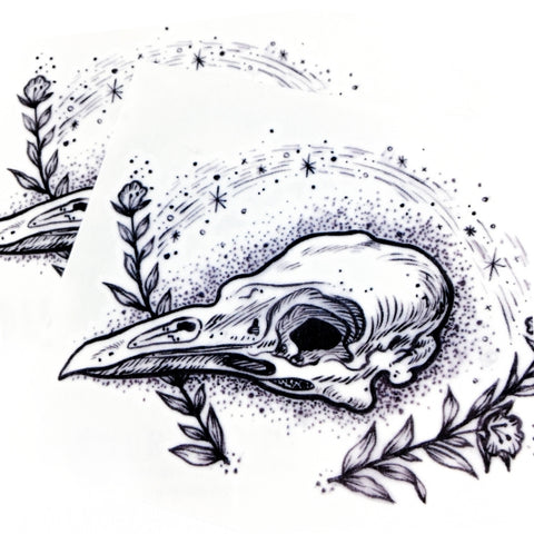 Bird Skull Spiritual Rebirth Deah Tattoo Graphic Tattoo Alchemist Spiritual Tattoo Delicate Tattoo LAZY DUO Tattoo Sticker 香港紋身貼紙 刺青圖案 紋身師 印刷訂做客製 Custom Temporary Tattoo artist HK tattoo shop Hong Kong 迷你刺青 韓式刺青紋身 small tattoo design Minimal Tattoo little tattoo idea sketchy tattoo floral tattoo ankle wrist tattoo back tattoo Taiwan