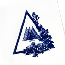 Load image into Gallery viewer, Rose Triangles Tattoo - LAZY DUO TATTOO