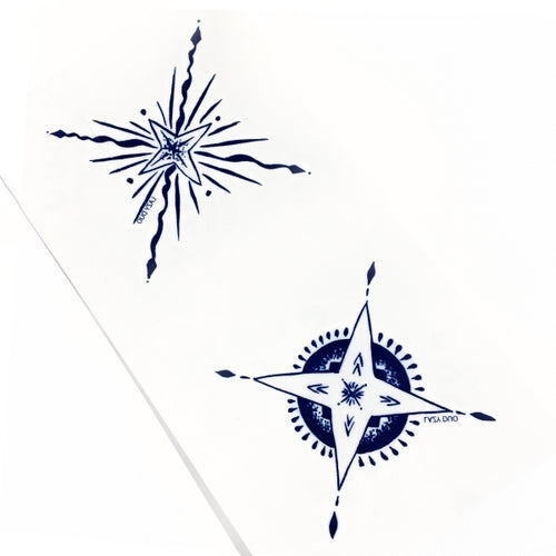 Matching Star Symbols Tattoo - LAZY DUO TATTOO