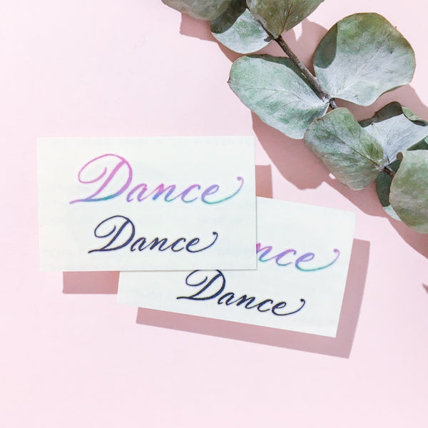 Watercolor Dance Sing Dancer Lettering Tattoo Words Tattoo Quote Tattoo Nationality Tattoo Watercolor LAZY DUO Tattoo Sticker 香港紋身貼紙 刺青圖案 紋身師 印刷訂做客製 Custom Temporary Tattoo artist HK tattoo shop Hong Kong 迷你刺青 韓式刺青紋身 small tattoo design Minimal Tattoo little tattoo idea sketchy tattoo ankle wrist tattoo back tattoo Taiwan