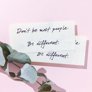 Positive Vibes · Be Different Tattoo - LAZY DUO TATTOO