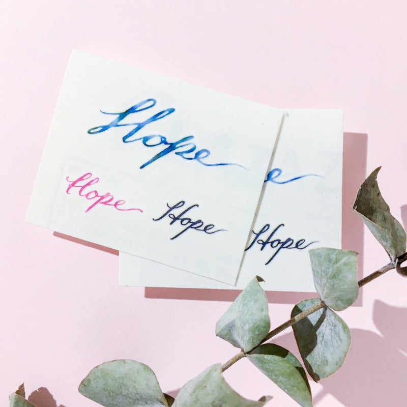 Watercolor Lettering Tattoo・Hope - LAZY DUO TATTOO