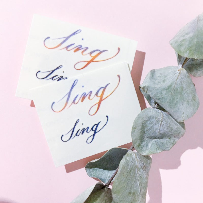 Watercolor Lettering Tattoo・Sing - LAZY DUO TATTOO