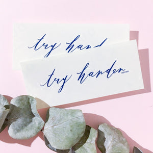 Motivational Words.Try Harder Tattoo - LAZY DUO TATTOO