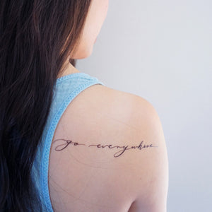 Happiness Quote.Traveller Tattoo - LAZY DUO TATTOO