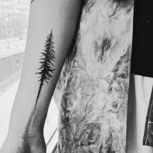 Watercolor Flower & Tree Tattoos - LAZY DUO TATTOO