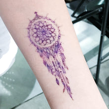 Load image into Gallery viewer, Pastel Purple Dreamcatcher Tattoo - LAZY DUO TATTOO