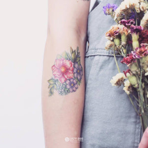 J06・Flower & Animal Tattoos Set - LAZY DUO TATTOO