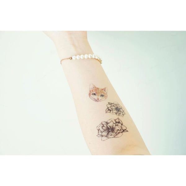 Floral Flower Tattoo Arrow Boho Tattoo LAZY DUO Tattoo Sticker 香港紋身貼紙 刺青圖案 紋身師 印刷訂做客製 Custom Temporary Tattoo artist HK tattoo shop Hong Kong 迷你刺青 韓式刺青紋身 small tattoo design Minimal Tattoo little tattoo idea sketchy tattoo floral tattoo ankle wrist tattoo back tattoo Taiwan