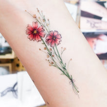 Load image into Gallery viewer, J13・Tarot Florist Tattoos Set - LAZY DUO TATTOO