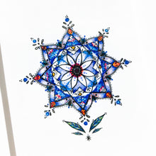 Load image into Gallery viewer, Stained Glass Blue Flower Tattoo|LAZY DUO TEMPORARY TATTOO STICKER SHOP HK Alchemist Design Store HK HONG KONG 紋身貼紙 香港紋身認領圖 文青 美式花紋身tattoohk hongkongtattoo 小圖刺青 fine-line tattoo 簡約刺青 minitattoo linetattoo tattooartist 香港刺青 MANE INK