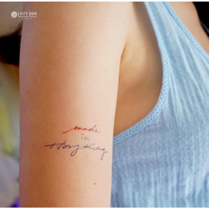 Lettering Tattoos Set・Phases & Cat - LAZY DUO TATTOO