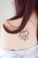Load image into Gallery viewer, Stars Heart & Moon Tattoo - LAZY DUO TATTOO