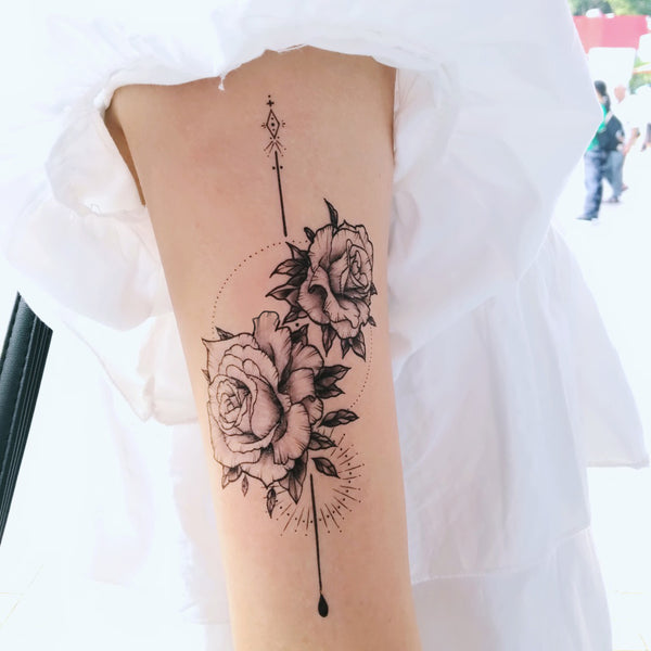 Rose Tattoo Alchemist Tattoo Spiritual Tattoo Romantic Bohemian Tattoo Boho Minimal Tattoo LAZY DUO Tattoo Sticker 香港紋身貼紙 刺青圖案 紋身師 印刷訂做客製 Custom Temporary Tattoo artist HK tattoo shop Hong Kong 迷你刺青 韓式刺青紋身 small tattoo design Minimal Tattoo little tattoo idea sketchy tattoo floral tattoo ankle wrist tattoo back tattoo Taiwan