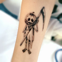 Load image into Gallery viewer, Chucky Pumpkin Tattoo - LAZY DUO TATTOO
