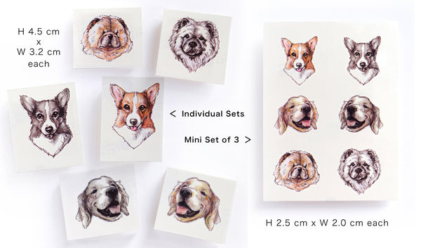 Golden Retriever Tattoo Puppy Tattoo Labrador Retriever CHOW CHOW Corgi Dog Tattoo Animal Pet Watercolor LAZY DUO Tattoo Sticker 香港紋身貼紙 刺青圖案 紋身師 印刷訂做客製 Custom Temporary Tattoo artist HK tattoo shop Hong Kong 迷你刺青 韓式刺青紋身 small tattoo design Minimal Tattoo little tattoo idea sketchy tattoo floral tattoo ankle wrist tattoo back tattoo Taiwan