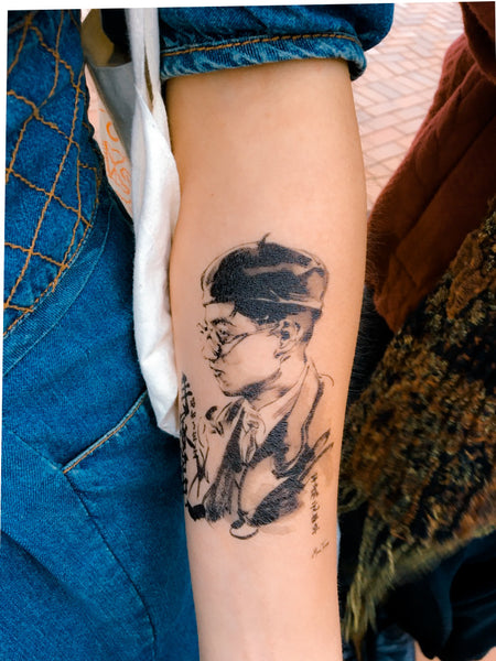 Man僧Tsang Wai Man Inkwash tattoo artist HK tattoo shop Hong Kong Tattoo Sticker 紋身貼紙 刺青圖案 香港紋身師 LAZY DUO 迷你刺青 韓式紋身 small tattoo little tattoo idea 香港