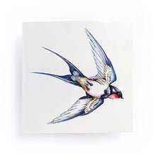 Load image into Gallery viewer, Delicate Watercolor Swallow Tattoos - LAZY DUO TATTOO