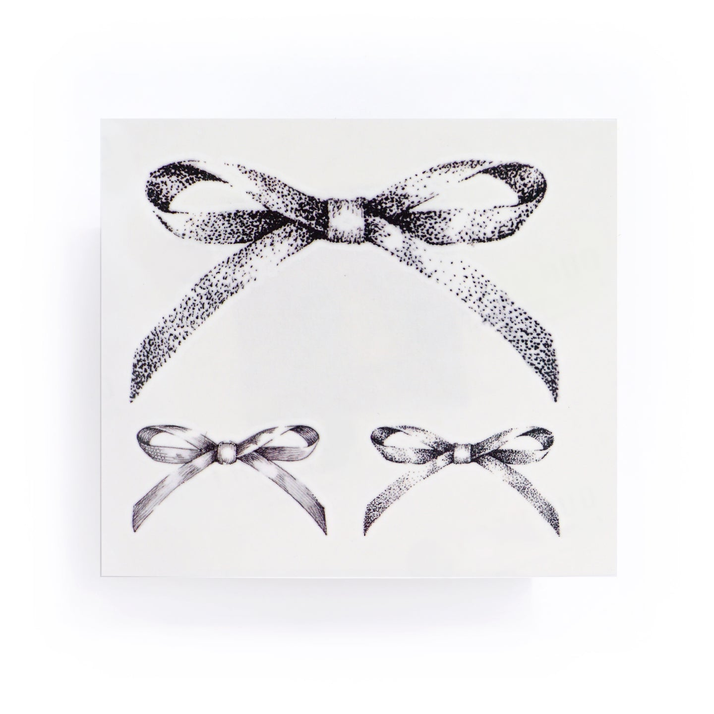 Dotwork Ribbon Bow Tattoo - LAZY DUO TATTOO