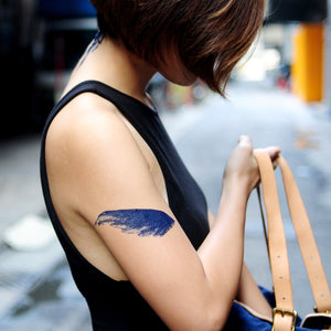 Blue Feather & Wings Tattoo - LAZY DUO TATTOO