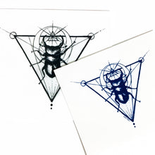 Load image into Gallery viewer, Moon Beetle Tattoo - LAZY DUO TATTOO