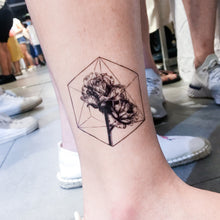 Load image into Gallery viewer, Rose & Polygon Tattoos - LAZY DUO TATTOO