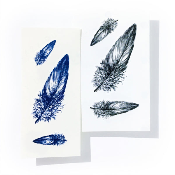 Small Minimal Feather Wing delicate Artistic Temporary Tattoo Sticker 羽毛 翅膀 簡約手繪紋身貼紙 LAZY DUO 刺青 小清新 迷你 香港 印刷 訂做 客製 Custom Temporary Tattoo artist HK tattoo shop Hong Kong  Taiwan