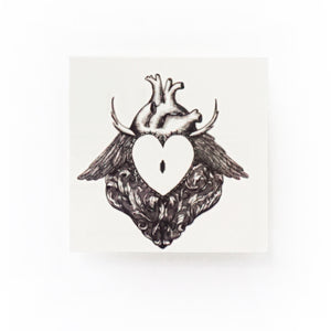 Rococo Spiky Heart Lock Tattoo - LAZY DUO TATTOO