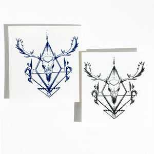 Gothic Deer Skull Tattoo - LAZY DUO TATTOO
