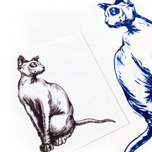 Load image into Gallery viewer, Sphynx Cat II Tattoo - LAZY DUO TATTOO