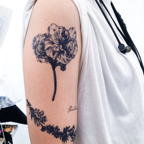Large Flower Tattoo - LAZY DUO TATTOO