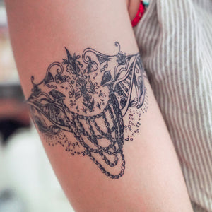Bohemian Mermaid Dream Arm / Leg Band Tattoo - LAZY DUO TATTOO
